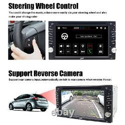 HD 6.2 Double 2 Din Car Stereo Radio DVD Player Bluetooth In Dash GPS+Camera