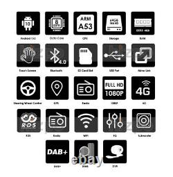 HIZPO Octa-Core Android 10 4GB+64GB 7 Double 2DIN Car Stereo Radio GPS DAB+TV