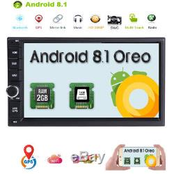 HIZPO Quad Core Android 8.1 4G WIFI 7 Double 2DIN Car Radio Stereo DAB+GPS Navi