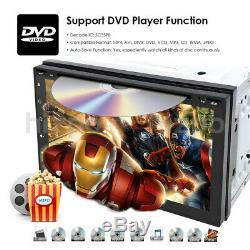 HIZPO Quad Core Android 9.0 WIFI 7 Double 2DIN Car Radio Stereo DVD Player GPS