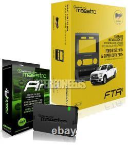 IDatalink Maestro Double Din Stereo Dash KIT FTR1 for Ford F150 2015+ ADS-MRR