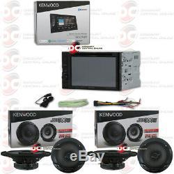 KENWOOD DDX376BT 6.2 CD DVD BLUETOOTH PANDORA CAR STEREO PLUS 4 x 6.5 SPEAKERS