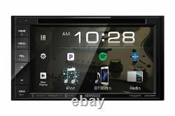 Kenwood Double DIN Bluetooth In-Dash Car Stereo Receiver+Belva Backup Camera