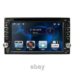 Map+Camera+GPS Nav 6.2 Double 2Din Car Stereo Radio DVD CD Mp3 Player Bluetooth