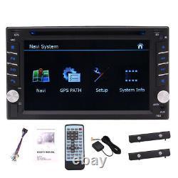 Map+Camera+GPS Nav 6.2 Double 2Din Car Stereo Radio DVD CD Mp5 Player Bluetooth
