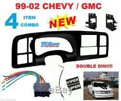 Metra Double Din Car Stereo Radio Install Dash Kit For 1999-02 Silverado Sierra