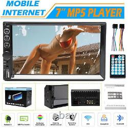 Mirror Link For GPS Double Din Car Stereo Bluetooth Touch Screen FM HD Radio AUX