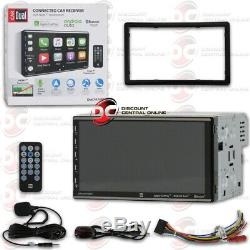 New Dual 2din Car 7 Digital Media Stereo Bluetooth Apple Carplay Android Auto