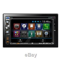 New Dual In-Dash Double-DIN 200W CD/MP3 USB Car Stereo Receiver with AUX Input