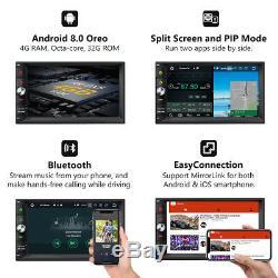 Octa-Core Android 8.0 4GB RAM 7 Double 2DIN Car Stereo Radio GPS Navi DAB+ OBD2