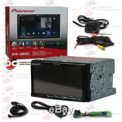 PIONEER AVH-600EX 7 TOUCHSCREEN DVD BLUETOOTH STEREO With KEYHOLE BACK-UP CAMERA
