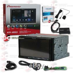 Pioneer Avh-600ex Car 2din 7 LCD DVD Bluetooth Stereo Plus Sirius XM Tuner