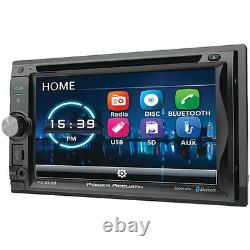 Power Acoustik PD625B 6.2 Double Din Receiver With Bluetooth DVD Car Stereo