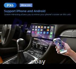Rotated 12.8'' INCH Double DIN Android 9.0 Car Radio MP5 Player GPS Navi Carplay
