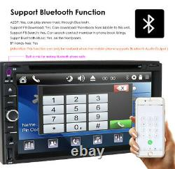 Sony CD Lens Double 2Din InDash 7 Car Stereo Radio DVD Player AUX Bluetooth USB