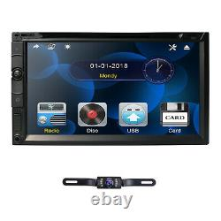 Sony Lens Double 2 Din 7 In Dash Stereo Car DVD Player BT Radio iPod SD/USB+Cam