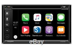 Soundstream VRCP65 Double DIN Bluetooth DVD/CD/ Apple CarPlay Car Stereo