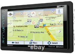 Soundstream VRN-65HXB SiriusXM Bluetooth GPS DVD Player Car Stereo 2 Double Din
