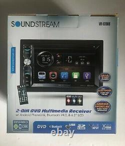 Soundstream Vr-620hb CD DVD Usb Aux Sd Bluetooth Android 300w Amplifier Stereo