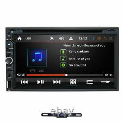 Touch Screen Hizpo Double 2Din 7 Car Stereo Radio DVD Player BT USB Camera