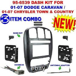 01-07 Caravane / Town & Country Installation Stéréo Radio Voiture Double Din Kit Dash