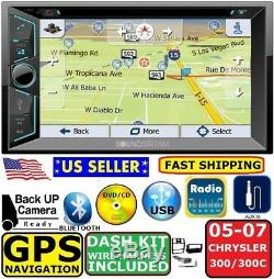 05 06 07 Chrysler 300 300c Double Din Gps Navigation Radio Stéréo Auto Bluetooth