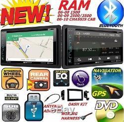 06 07 08 09 10 Dodge Ram DVD Système De Navigation Gps Radio Bluetooth Voiture Stéréo Bt