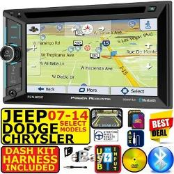 07 Et Jusqu'à Chrysler Dodge Jeep Navigation Usb Bluetooth CD / DVD Voiture Radio Stéréo Emb