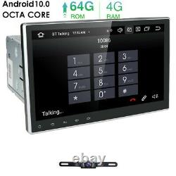 10.1 Android 10 4+64 Go Double 2 Din DVD De Voiture Stereo Radio Gps Navigation +camera