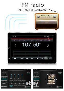 10.1 Android 10 Double 2din Voiture Radio Gps Navi Touch Écran Usb Lecteur App Wifi