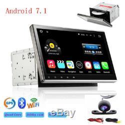 10.1 Android 7.1 Double 2din Voiture Radio Radio Lecteur DVD Navigation Gps + Caméra