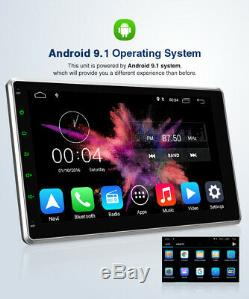 10.1 Android 9.1 Car Stereo Gps Navi Mp5 Double 2din Quad Core Radio Cam