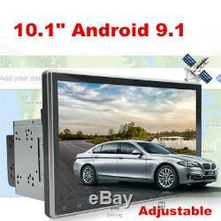 10.1 Android 9.1 Double 2din Car Stereo Radio Wifi Gps Obd2 Miroir Lien Lecteur