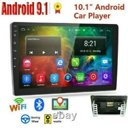10.1 Android 9.1 Voiture Stereo Radio Gps Double 2din Wifi Mirror Link Mp5 Player
