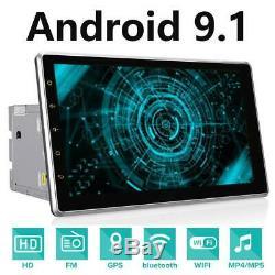 10,1 Double 2 Din Car Radio Android 9.1 Stereo Audio Véhicule Gps Wifi + Cam