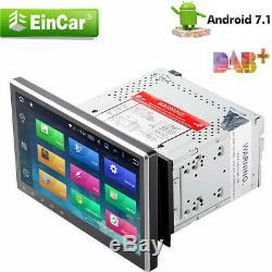 10.1 Double Lecteur 2din De Voiture Android 7.1 Radio Stéréo Lecteur DVD 4g Wifi Gps Nav 4-core