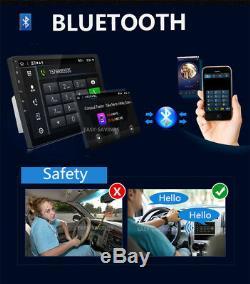 10.1 Gps Android 9.1 Car Stereo Radio Double 2din Wifi Obd2 Miroir Joueur Lien