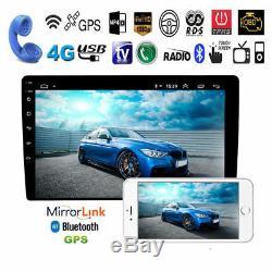 10.1 Hd Android 9.1 Double 2din Car Stereo Radio Gps Wifi Obd2 Miroir Lien Unité