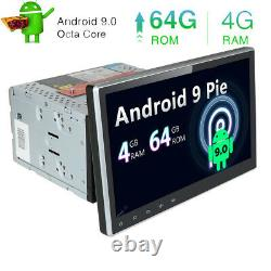 10.1 Voiture Lecteur DVD Double 2 Din Android 10 4gb+64gb Gps Nav Stereo Octa-core