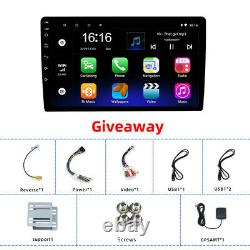 10 Double 2 Din Android 9.1 Car Stereo Radio Mp5 Gps Wifi 4-core 2.5d