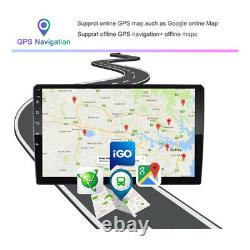 10 Pouces Double 2 Din Voiture Stereo Radio Android Gps Wifi Touch Écran Mp5