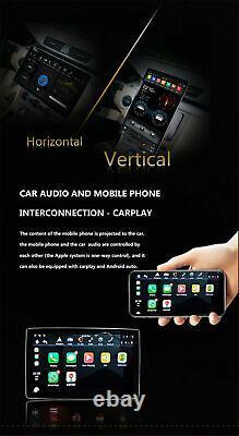 12.8 Écran 4k Double Din Android 9.0 Voiture Radio Mp5 Gps Navi Wifi 4+32g Carplay