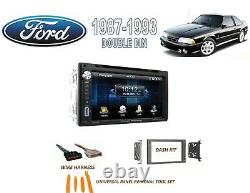 1987-1993 Ford Mustang Double Din Voiture Stéréo Kit Bluetooth Écran Tactile DVD