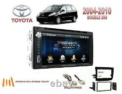 2004-2010 Toyota Sienna Double Din Car Stereo Kit Bluetooth Écran Tactile DVD