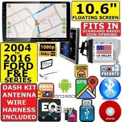 2004-2016 Ford F & E Series 10.6 Navigation Bluetooth CD / DVD Usb Car Stereo Emb