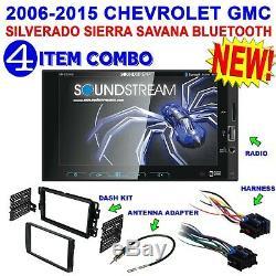 2006-2015 Chevrolet Gmc Sierra Silverado Savana 2-din Usb Bluetooth Stéréo Rca