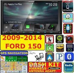 2009-14 F150 Kenwood Navigation Gps D'apple Carplay Android Auto Package Radio Voiture