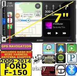 2009-14 Ford F150 Gps Nav D'apple Carplay Android Auto Bluetooth Car Radio Stéréo