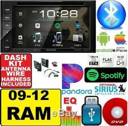 2009-2012 Dodge Ram Kenwood Bluetooth DVD CD Usb Bt Video Rca Radio Stéréo
