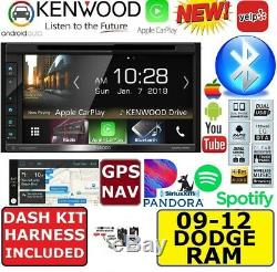2009-2012 Dodge Ram Kenwood Gps Nav CD / DVD D'apple Carplay Android Auto Car Stereo